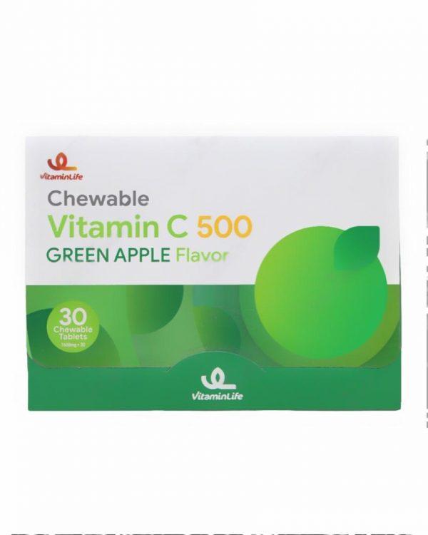 قرص جویدنی ویتامین سی 500 ویتامین لایف