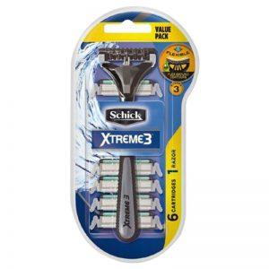 تیغ اصلاح مردانه 3 تیغه شیک مدل Xtreme 3 با 5 تیغ یدک