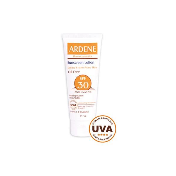 لوسیون ضد آفتاب فاقد چربی SPF30 آردن