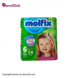 پوشک 24عددی سایز ۶ کودکان بالای ۱۵ کیلوگرم مولفیکس
