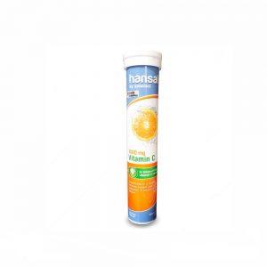 قرص جوشان ویتامین سی 1000 میلی گرم هانسال