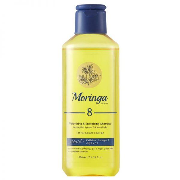 شامپو حجمدهنده و انرژیبخش مورینگا امو مناسب مو معمولی و نازک کد 8