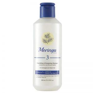 شامپو مغذی و انرژیبخش مورینگا امو 400ml مناسب موهای آسیبدیده و ضعیف کد 3
