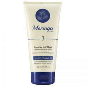ماسک مو ترمیمکننده مورینگا امو 200 ml مناسب موهای کراتینه و آسیبدیده کد 3