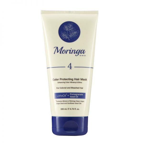 ماسک مو مراقبت از رنگ مورینگا امو مناسب موهای رنگ شده و دکلره کد 4