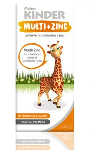 فیشر کیندر شربت مولتی ویتامین + زینک کیندر